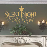 Silent Night Holy Night | Christmas Decal | Holiday Wall Decoration