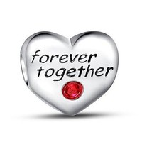 """Forever Together"" 925 Sterling Silver Bead Fit Pandora Charms"