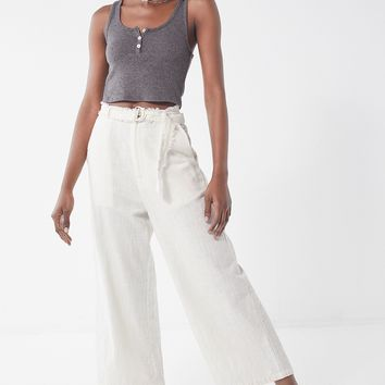 UO Rori Raw-Edge Culotte Pant   Urban Outfitters