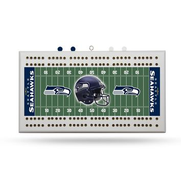 SEATTLE SEAHAWKS FIELD CRIBBAGE BOARD