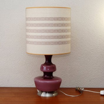 Holmegaard Danish glass table lamp with the original shade, 70s