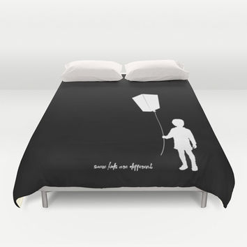 Some kids are different - Boy Duvet Cover by HappyMelvin