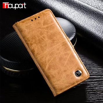 For Huawei P9 Case Luxury Stand Phone Cover Flip Bags Book Style Retro Business Genuine Leather Wallet Cases For Huawei P9