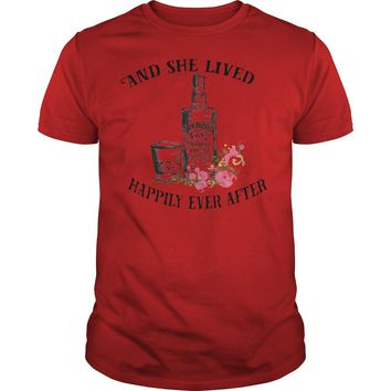 Jack Daniel: And she live happily ever after shirt Premium Fitted Guys Tee