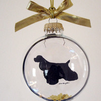 Cocker Spaniel Dog Gifts for Dog Lovers Glass Ornament