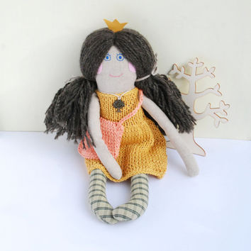 Princess Doll,Rag Doll for Girl, Soft Toys, Stuffed Rag Doll, Cloth Textile Toys, Birthday Gift, Home Decor Doll, Handmade Soft Doll, Ooak