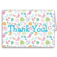 Under The Sea Birthday Thank You Cards