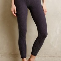 Shimmered Performance Leggings by Phat Buddha Silver One Size Leggings