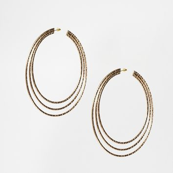 ASOS XL Triple Hoop Earrings