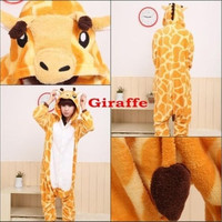 Unisex Adult Pajamas Kigurumi Cosplay Costume Animal Onesuit Sleepwear Giraffe [9221637252]
