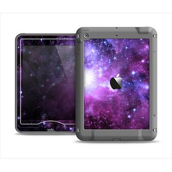 The Purple Space Neon Explosion Apple iPad Mini LifeProof Nuud Case Skin Set