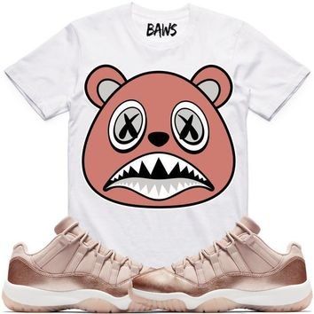 ROSE GOLD BAWS Sneaker Tees Shirt - Jordan 11 Low Rose Gold