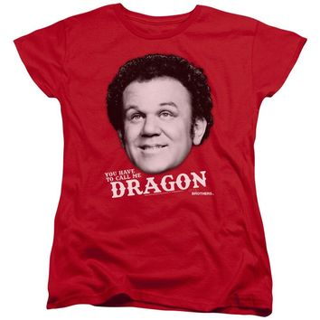 Step Brothers Womens T-Shirt Dragon Red Tee