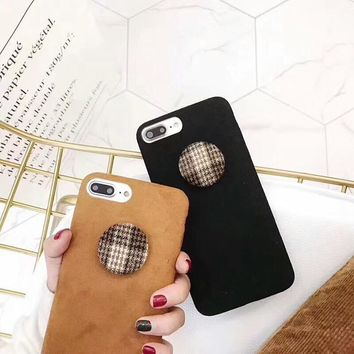 Squishy iPhone Furry British Flannelette Phone Cases for iPhone 7  6s - Free Shipping