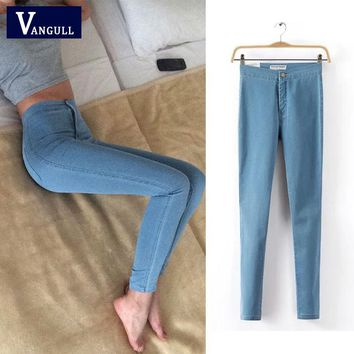 Fashion Women Jeans 2016 New Spring and Autumn Print Ripped Washed Slim Jeans Vintage Elastic Painted Denim Trousers Pants