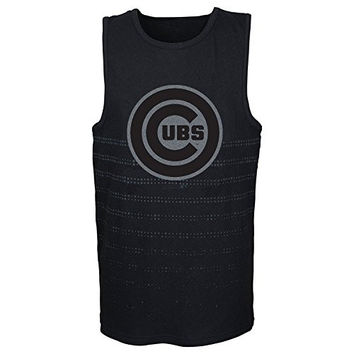 MLB Chicago Cubs Youth Boys 8-20 Reflection Tank-S (8),Small (8),Black