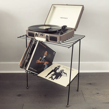 Midcentury Modern Record Stand