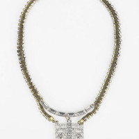 Art Deco Rhinestone Necklace - Urban Outfitters