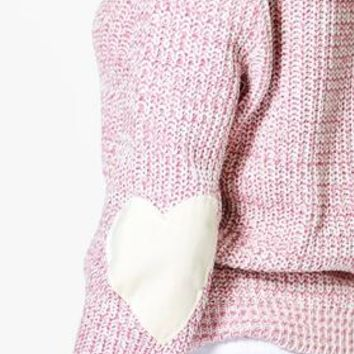 Harper Heart Elbow Patch Jumper