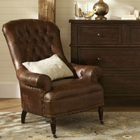 Radcliffe Tufted Leather Armchair