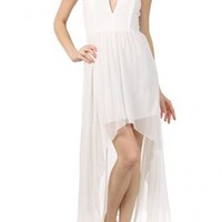 Goddess Enchantment Sweetheart Strapless High Low Dress in Ivory | Sincerely Sweet Boutique
