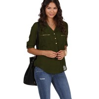 Olive All Around Marilyn Top