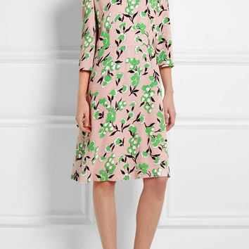 Marni - Floral-print crepe dress