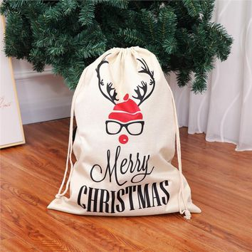 Large Christmas Laundry Bag for Linens
