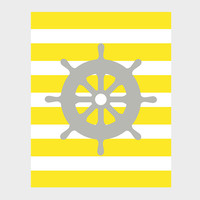 Nautical Gray Wheel Yellow Stripes Print Nursery Decor Baby Print CUSTOMIZE YOUR COLORS 8x10 Prints Nursery Decor Art Baby Room Decor Kids