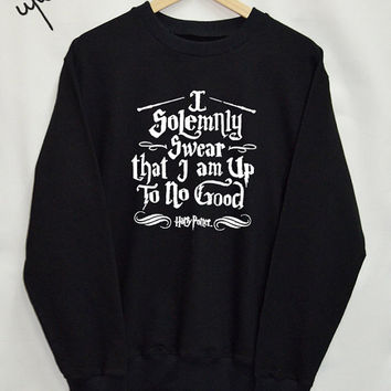 Harry potter clothes I Solemnly Swear I'm Up To No Good shirt Clothing Sweater Sweatshirt Top Tumblr Fashion Slogan Funny Jumper