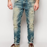 Replay Jeans Laserblast LIFE Anbass Slim Fit Distress Wash