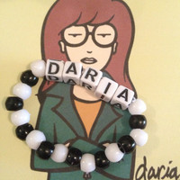 Daria Stretchy Bracelet by GoldenGlitterr on Etsy