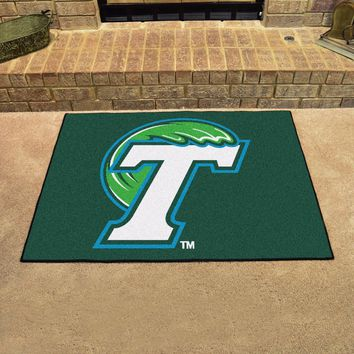 "Tulane Green Wave 34"" x 43"" All Star Area Rug Floor Mat"