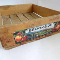 wood crate storage box bin container retro vintage