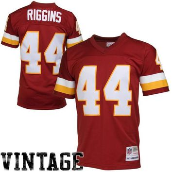 Mens Washington Redskins John Riggins Mitchell & Ness Burgundy Retired Player Vintage Replica Jersey