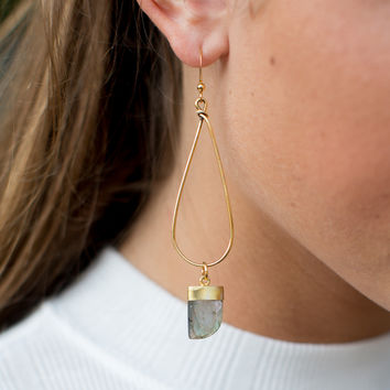 Betsy Pittard Designs Ronnie Teardrop Earring - Grey