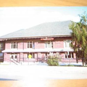 Vintage Northern Pacific Railroad Passenger Station Butte Montana Postcard