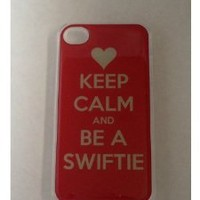 Keep Calm and be a Swiftie Heart Red iPhone 4 4S Clear Plastic Case