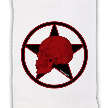 """Blood Red Skull Micro Terry Sport Towel 11""""x18 by TooLoud"""