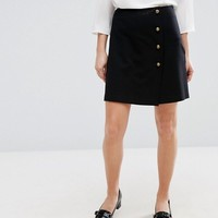 New Look Military Mini Skirt at asos.com
