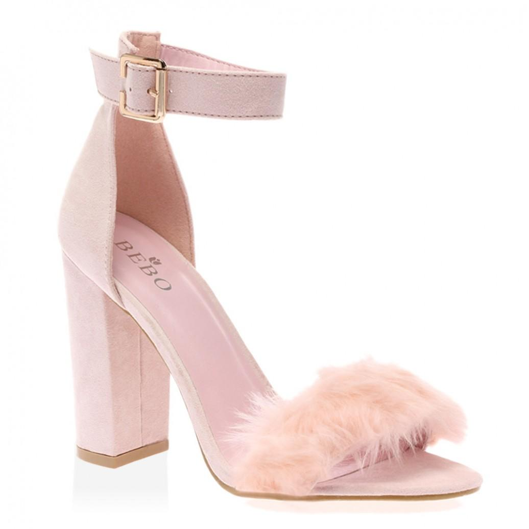 Celine Pink Faux Suede Block Heels From Publicdesire Co Uk