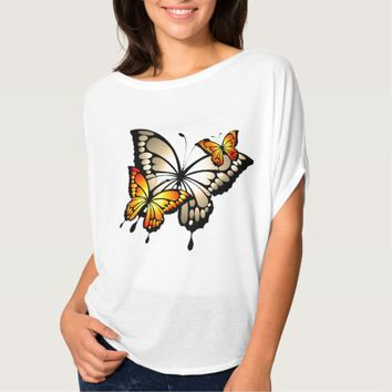 Butterfly Women's Bella Canvas Flowy Circle Top
