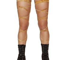 """100"""" Suede Leg Strap with Attached Garter"""