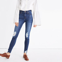 "9"" High-Rise Skinny Jeans: Destructed Edition"