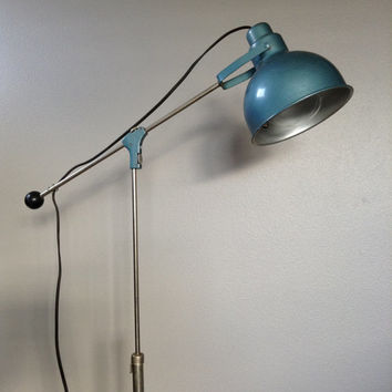 Vintage Bretford Floor Lamp Tripod Industrial Mid Century Adjustable Mad Men Style Reclaimed Lighting Man Cave Minimalist Light