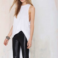Nasty Gal Good Times Bad Times High Low Maxi Top - White