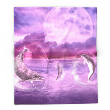 Society6 Dream Of Dolphins Blanket