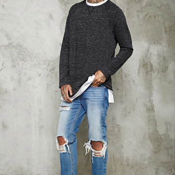 Marled Knit Terry Pullover