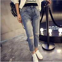 Fashion Casual Jeans Pants Trousers