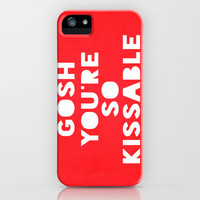 Gosh (Kissable) iPhone Case by Rachel Burbee | Society6